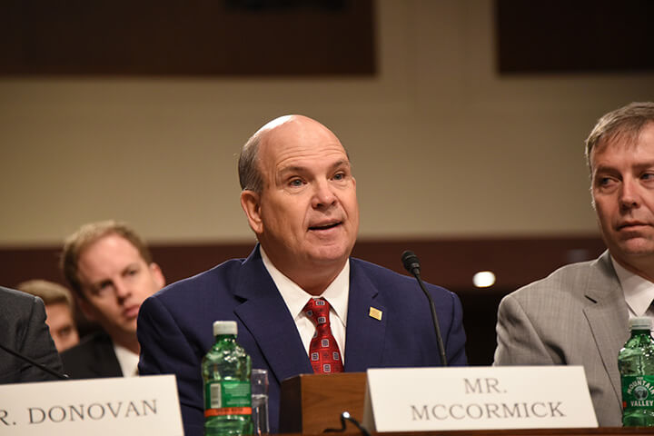 MFBF President Mike McCormick testifies before U.S. Senate Commerce Committee