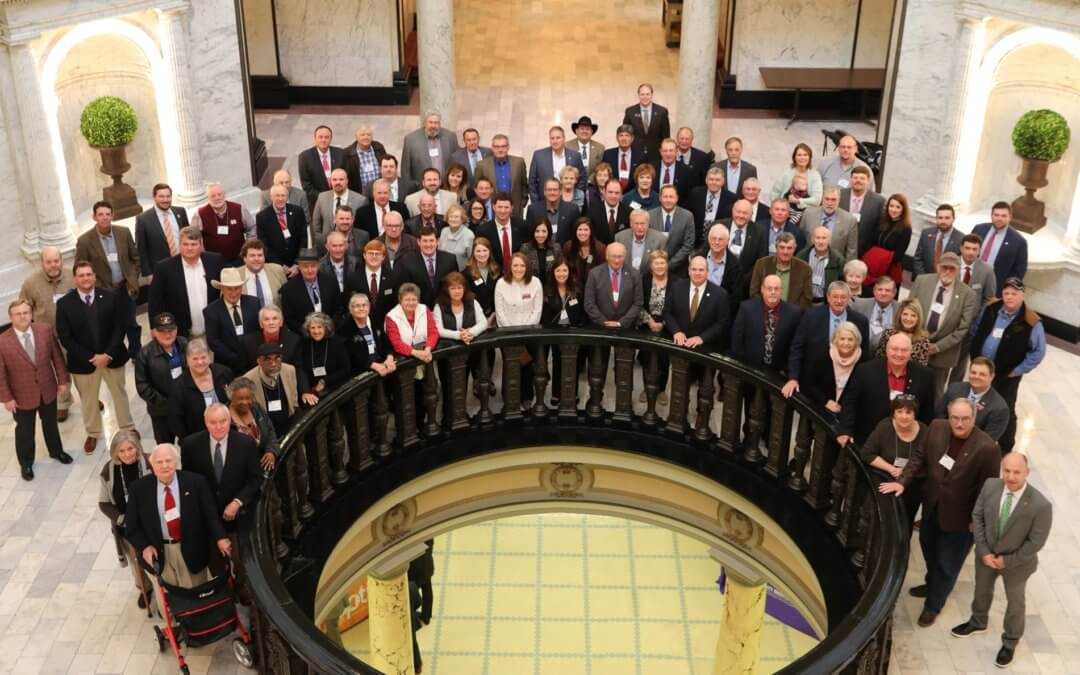 Members participate in legislative reception and Ag Day at the Capitol